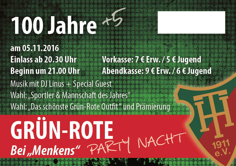 Grün Rote Nacht Eintrittskarte