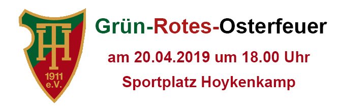 Grün-Rotes-Osterfeuer